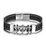 Муж. Браслет цельное кольцо Мода Кожа Геометрической формы Бижутерия Назначение Повседневные