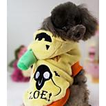 Dog Costume Dog Clothes Halloween Pumpkin Yellow