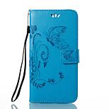 Кейс для Назначение Huawei P9 P10 Кошелек Бумажник для карт со стендом Флип Рельефный Чехол Бабочка Цветы Твердый Искусственная кожа для