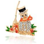 Мальчики Девочки Броши Имитация Алмазный Chrismas Elegant Сплав Бижутерия Бижутерия Назначение Другое Рождество