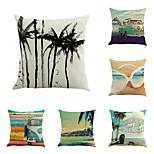 набор из 6 тропических летних пляжных подушки покрытия творческий песочной подушки случае домашнего декора