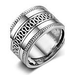 Жен. Классические кольца Простой стиль Стерлинговое серебро Геометрической формы Бижутерия Назначение День рождения Для вечеринок