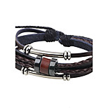 Men's Leather Bracelet Handmade Fashion Leather Alloy Circle Jewelry For Casual Going out