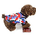 Собака Жилет Одежда для собак На каждый день Геометрические линии Красный Зеленый