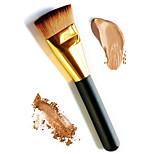 1шт мягкая длинная золотая ручка плоский фундамент макияж кисть основа грунтовка рыхлый порошок румяна контур косметическая кисть