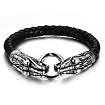 Men's Leather Bracelet Hip-Hop Rock Leather Titanium Steel Animal Shape Jewelry For Party Birthday Gift Evening Party
