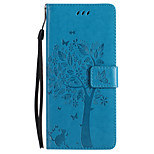 For Case Cover Card Holder Wallet with Stand Flip Embossed Full Body Case Butterfly Tree Hard PU Leather for Sony Sony Xperia XZ Sony