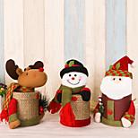 2pcs / lot прекрасная коробка подарка коробки подарка льна коробки рождества santa claus оленя снеговика рождественские коробки подарка