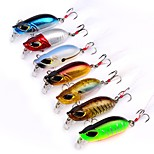 7 pcs Fishing Lures Hard Bait Minnow g/Ounce,55mm mm/2-1/4