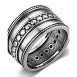 Жен. Классические кольца Кольцо на кончик пальца Геометрический Винтаж Стерлинговое серебро Геометрической формы Бижутерия Назначение