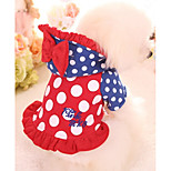Dog Hoodie Dog Clothes Casual/Daily Polka Dots Red Blushing Pink
