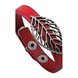 Men's Women's Leather Bracelet Natural Vintage Leather Alloy Leaf Jewelry For Casual Going out
