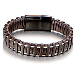 Men's Boys' Cuff Bracelet Bracelet Jewelry Fashion Personalized Leather Titanium Steel Geometric Jewelry For Daily Work