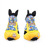 Dog Clothes/Jumpsuit Dog Clothes Casual/Daily Stars Red Yellow