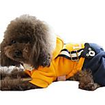 Cachorro Peitorais Roupas para Cães Casual Desenhos Animados Azul Escuro Amarelo