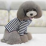 Собака Футболка Одежда для собак На каждый день Полоски Белый/Черный
