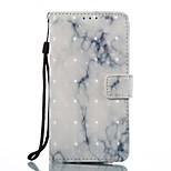 кейс для wiko lenny 3 чехол чехол карта держатель кошелек с подставкой флип-узор полный корпус корпус мрамор твердый кожа pu