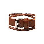Men's Women's Leather Bracelet Handmade Adjustable Leather Circle Button Jewelry For Casual Going out