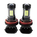 2PCS Focus Lighting Pattern 44W H4 H7 H8 H9 H11 9005 9006 Import 3030 LED 6000K LED Fog Light White Color