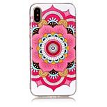 Pour iPhone X iPhone 8 Etuis coque Ultrafine Motif Coque Arrière Coque Mandala Flexible PUT pour Apple iPhone X iPhone 8 Plus iPhone 8
