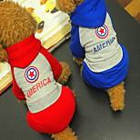 Собака Толстовки Одежда для собак На каждый день Английский Красный Синий