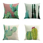 набор из 4 тропических кактусов шаблон подушки покрытия классический диван подушки покрытия домашний декор наволочка случае