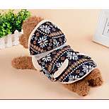 Dog Vest Dog Clothes Casual/Daily Geometic Gray Dark Blue