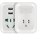 ETMAN AU to US Plug Phone USB Charger Power Strips  1 Outlets 2 USB Ports 4.2A AC 220V-250V
