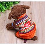 Cachorro Macacão Roupas para Cães Casual Riscas Arco-Íris