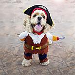 Собака Костюмы Одежда для собак Для вечеринки Косплей Мода Хэллоуин Рождество Английский Кофейный
