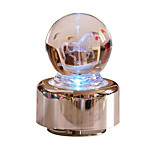 Music Box Light Up Toys Toys Round Roses Cartoon Toughened Glass Romantic 1 Pieces Not Specified Birthday Gift