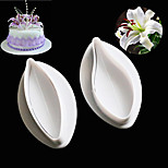 2PCS/Set Sugar Craft Cookie Plunger Cutters Mold Delicate Calla Lily Cake Fondant Decorating