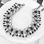 Women's Choker Necklaces Imitation Diamond Circle Zircon Alloy Fashion Classic Jewelry For Wedding Party