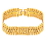 Men's Boys' Chain Bracelet Bracelet Jewelry Fashion Hip-Hop Stainless Steel Gold Plated Geometric Jewelry For Daily Casual