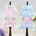 Dog Hoodie Clothes/Jumpsuit Dog Clothes Casual/Daily Cartoon Blushing Pink Blue