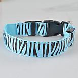 Collar LED Light Strobe/Flashing Zebra Terylene