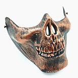 Недорогие -череп скелет airsoft пейнтбол наполовину лицо защитное снаряжение маска охранник Хэллоуин маскарад косплей вечеринка костюм костюм