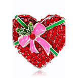 Жен. Броши Стразы Мода Chrismas Сплав В форме сердца Бижутерия Назначение Рождество