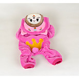 Dog Clothes/Jumpsuit Dog Clothes Casual/Daily Cartoon Fuchsia