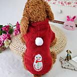 Кошка Собака Комбинезоны Одежда для собак Рождество Носки детские Красный
