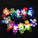 Недорогие -1pcs мультфильм животное привело вспышки испускающий браслет детей детей браслет запястье группы день рождения подарок дизайн украшения