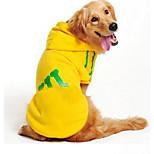 Собака Толстовка Одежда для собак На каждый день Кость Черный Темно-синий Серый Желтый Красный