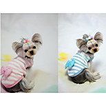 Dog Vest Dog Clothes Casual/Daily Bowknot Blue Pink Costume For Pets