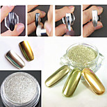 2box*2g Jar Holographic Laser Silver Color Shining Nail Glitter Dust Powder for Nail