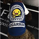 Perro Camiseta Sudadera Ropa para Perro Casual/Diario Letra y Número Rojo Azul