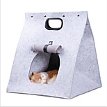 Cat Dog Carrier & Travel Backpack Pet Carrier Portable Foldable Solid Brown Gray