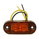 Sencart 10pcs 2LED Yellow LED Clearance Side Marker Light Truck Car Van Trailers Lamp 9-30V