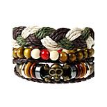 Муж. Жен. Кожаные браслеты Мода Кожа Геометрической формы Бижутерия Назначение Свадьба Для вечеринок