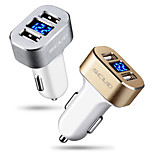 Scud Car Charger Fast Charge Display Voltage 2 USB Ports 3A DC 12V-24V With Charging Cable