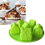 1 шт. Формы для пирожных Лошадь Новогодняя тематика 3D Повседневное использование Для торта Хлеб Торты Для приготовления пищи Посуда Для